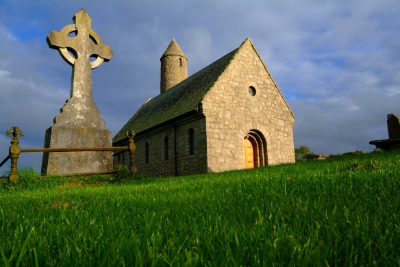Two miles outside Downpatrick, this church was built in 1932, to commemorate Saint Patrick's first church in Ireland. Close by, on the crest of Slieve Patrick is a huge statue of the saint. Bronze panels illustrate scenes from the life of Ireland's patron saint.