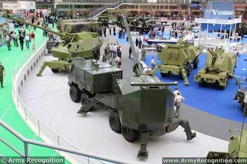 YugoImport_family_range_of_wheeled_self-propelled_howitzer_Partner_2013_defence_exhibition_Belgrade_Serbia_001