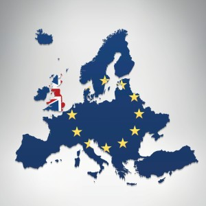 European Union and United Kingdom flag map on grey background. Hires JPEG (5000 x 5000 pixels) and EPS10 file included.